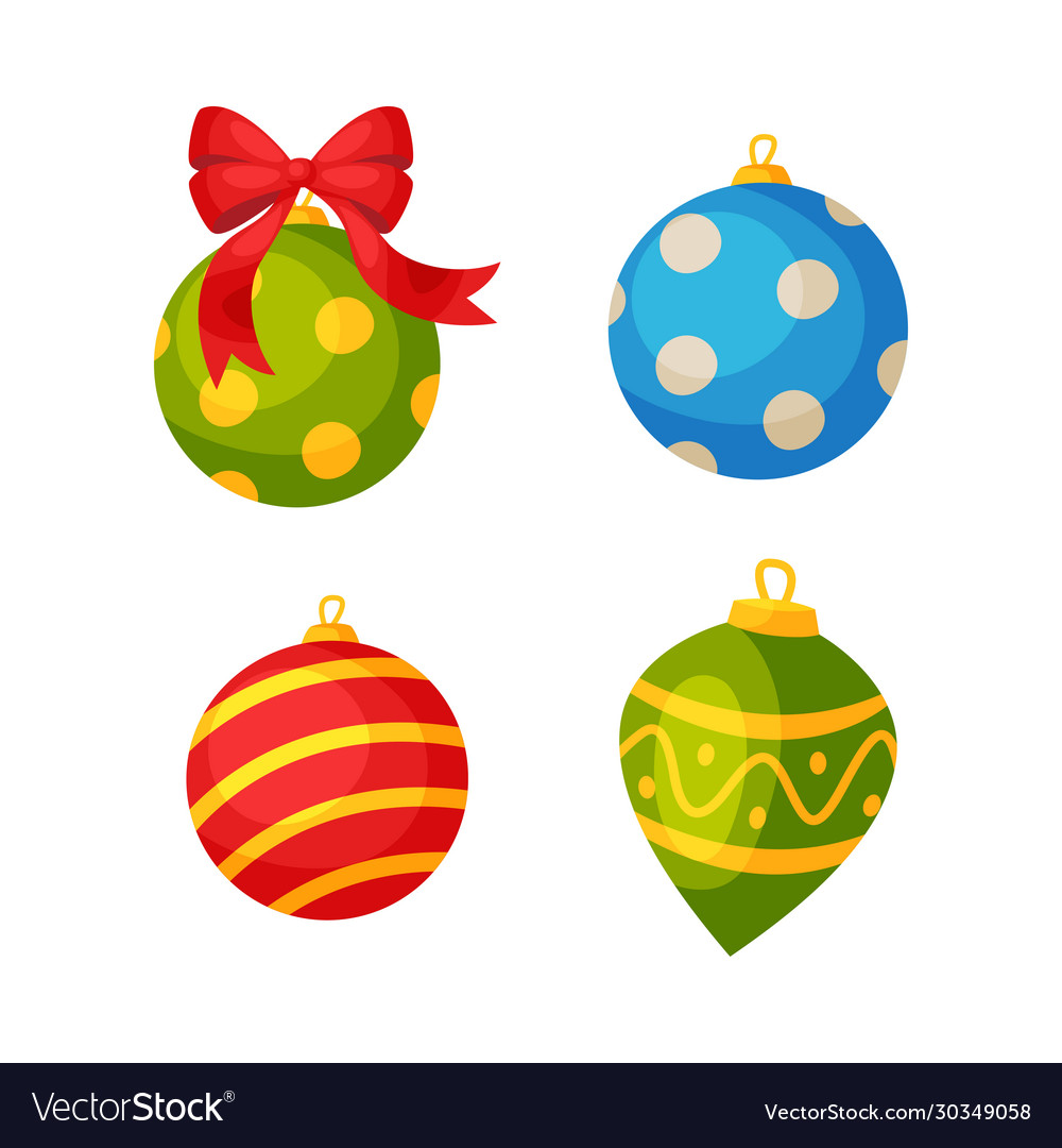 Colorful bauble balls christmas and new year