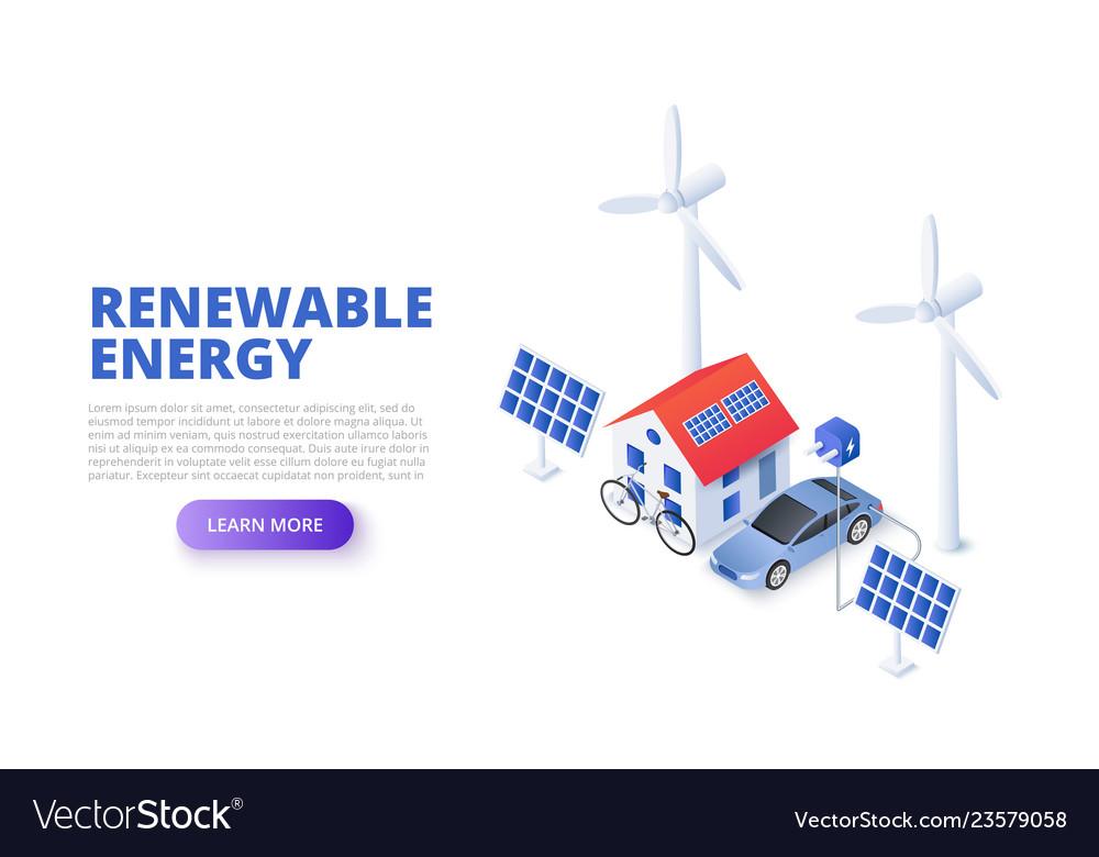 Renewable energy concept with solar panel