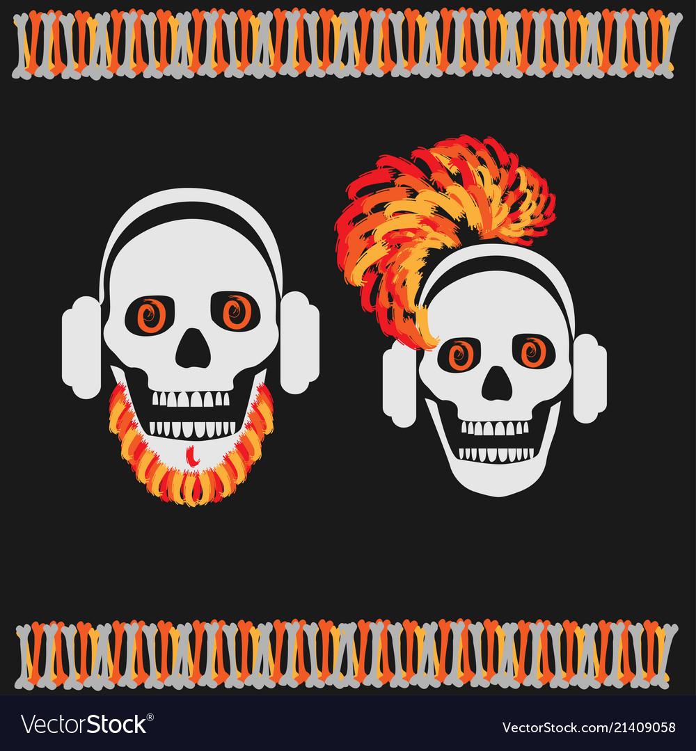 Skull boy and girl