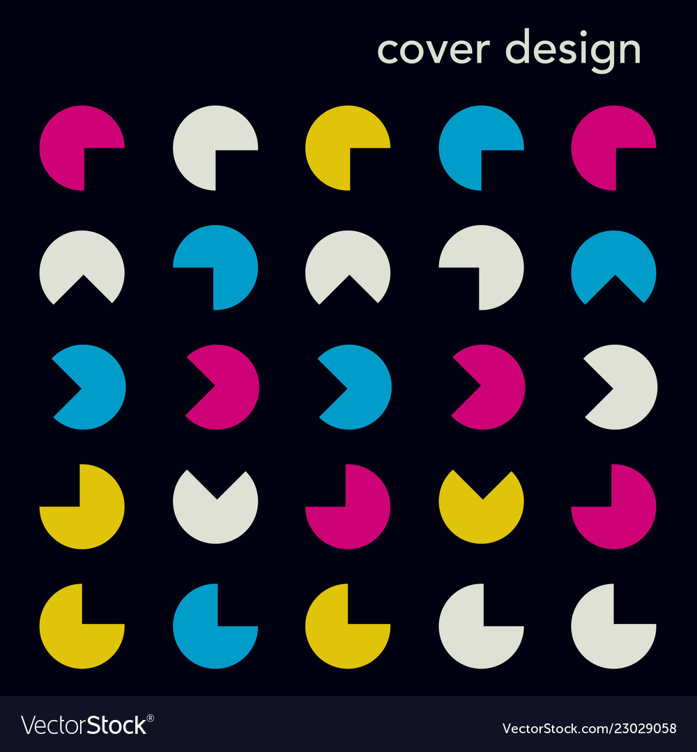 Trendy abstract geometry banner template