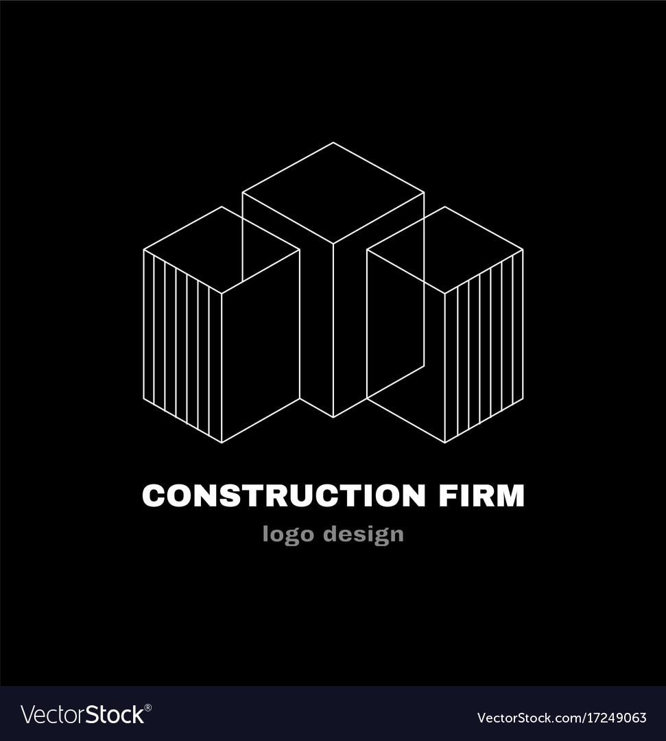 Abstract construction firm geometric logo