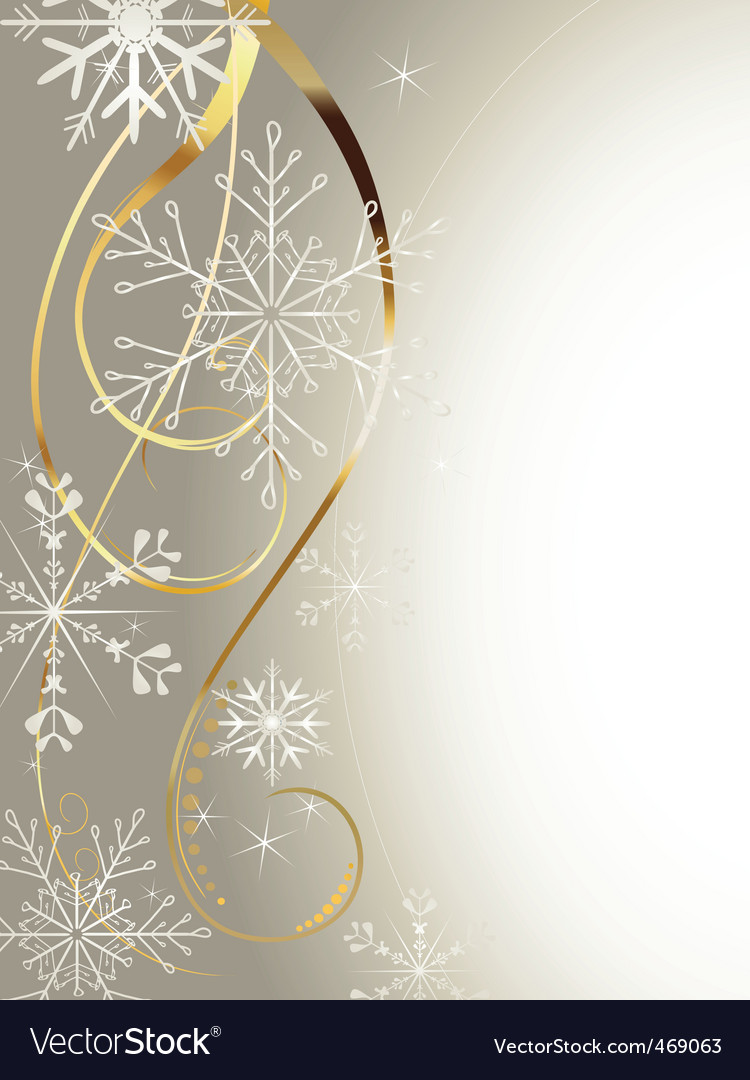Background with gold and snowflakes2