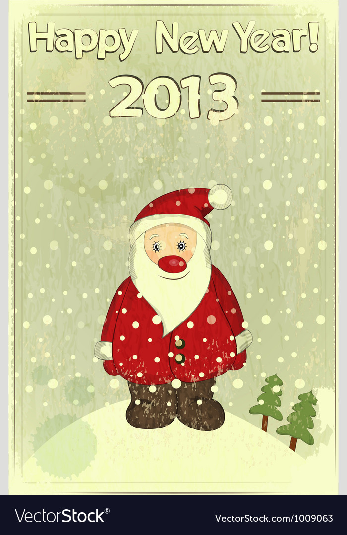 Christmas cards with Santa Claus vector image
