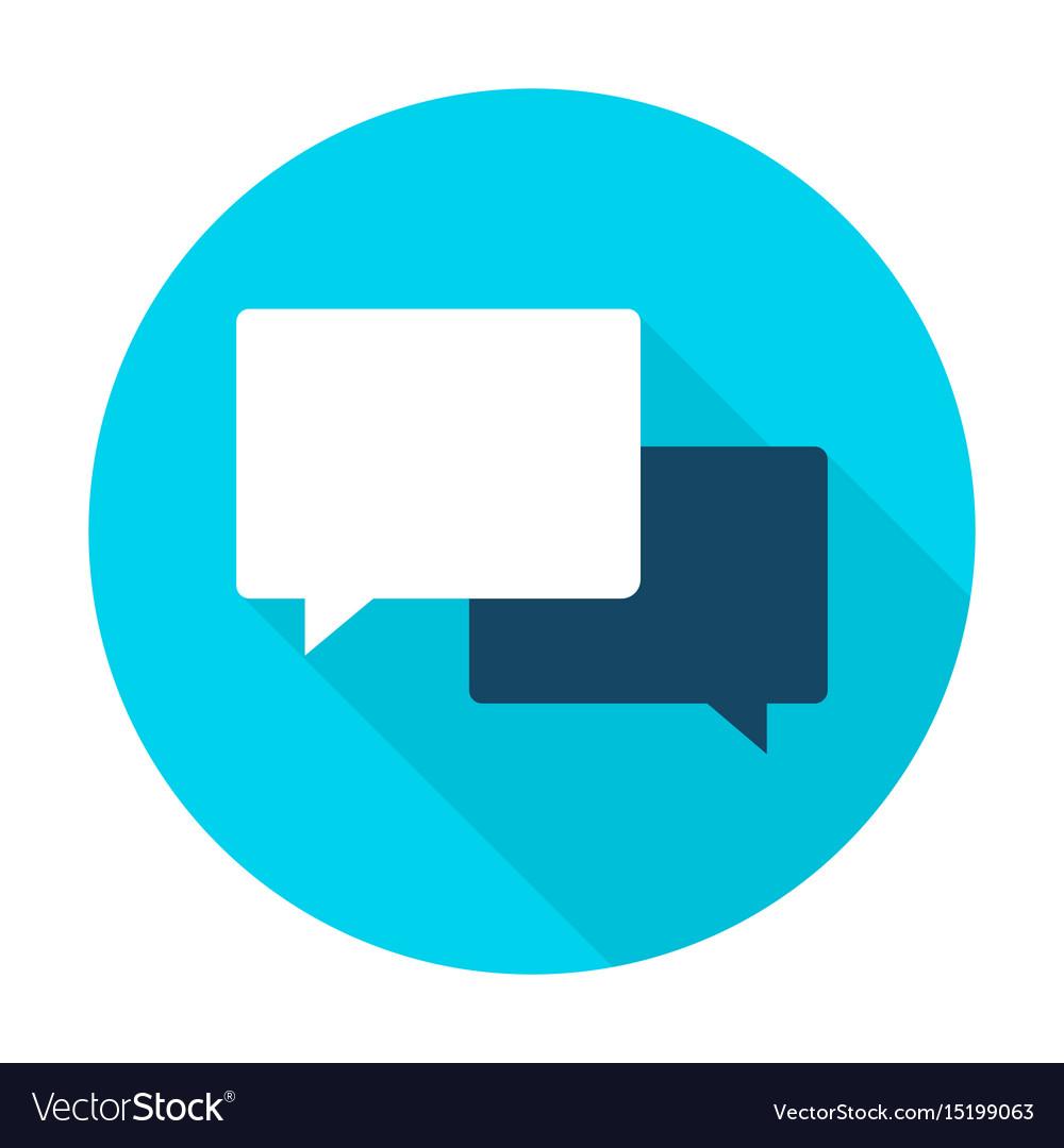 Communication flat circle icon vector image