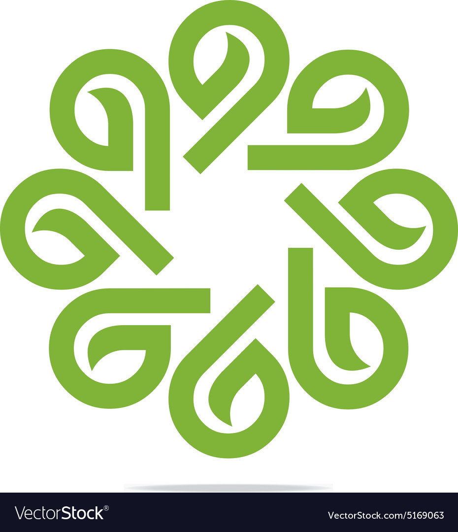 Go Green Leaf Greening Symbol Icon Royalty Free Vector Image