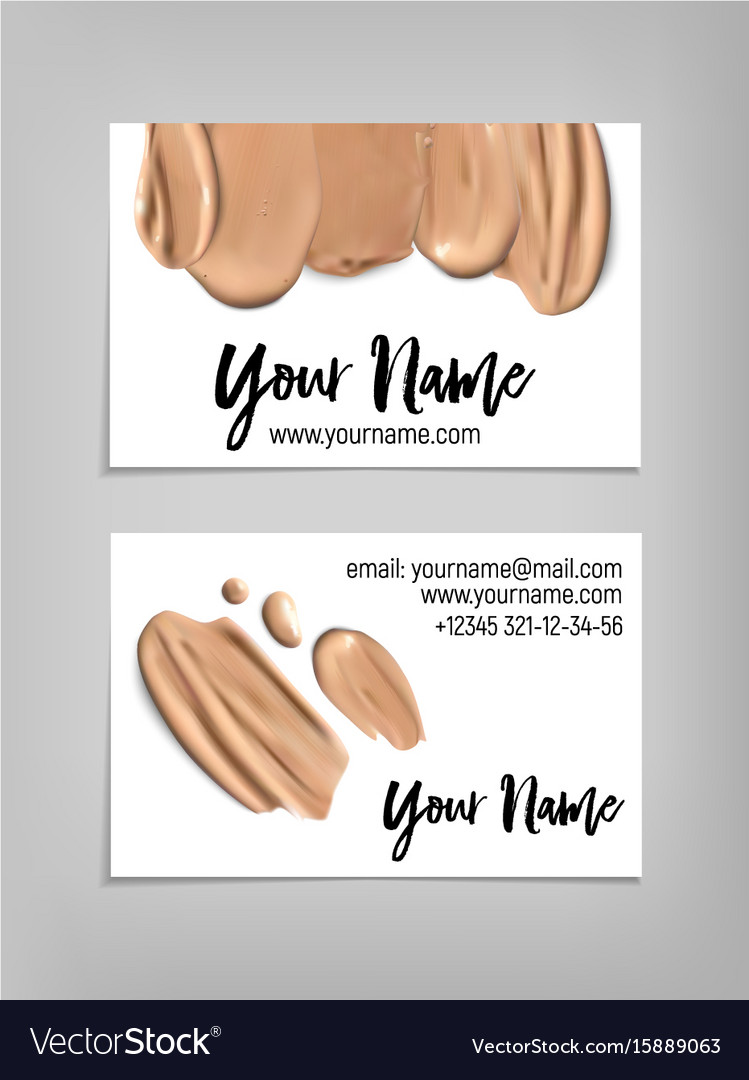 Makeup Artist Business Card Template Royalty Free Vector - Makeup artist business card template