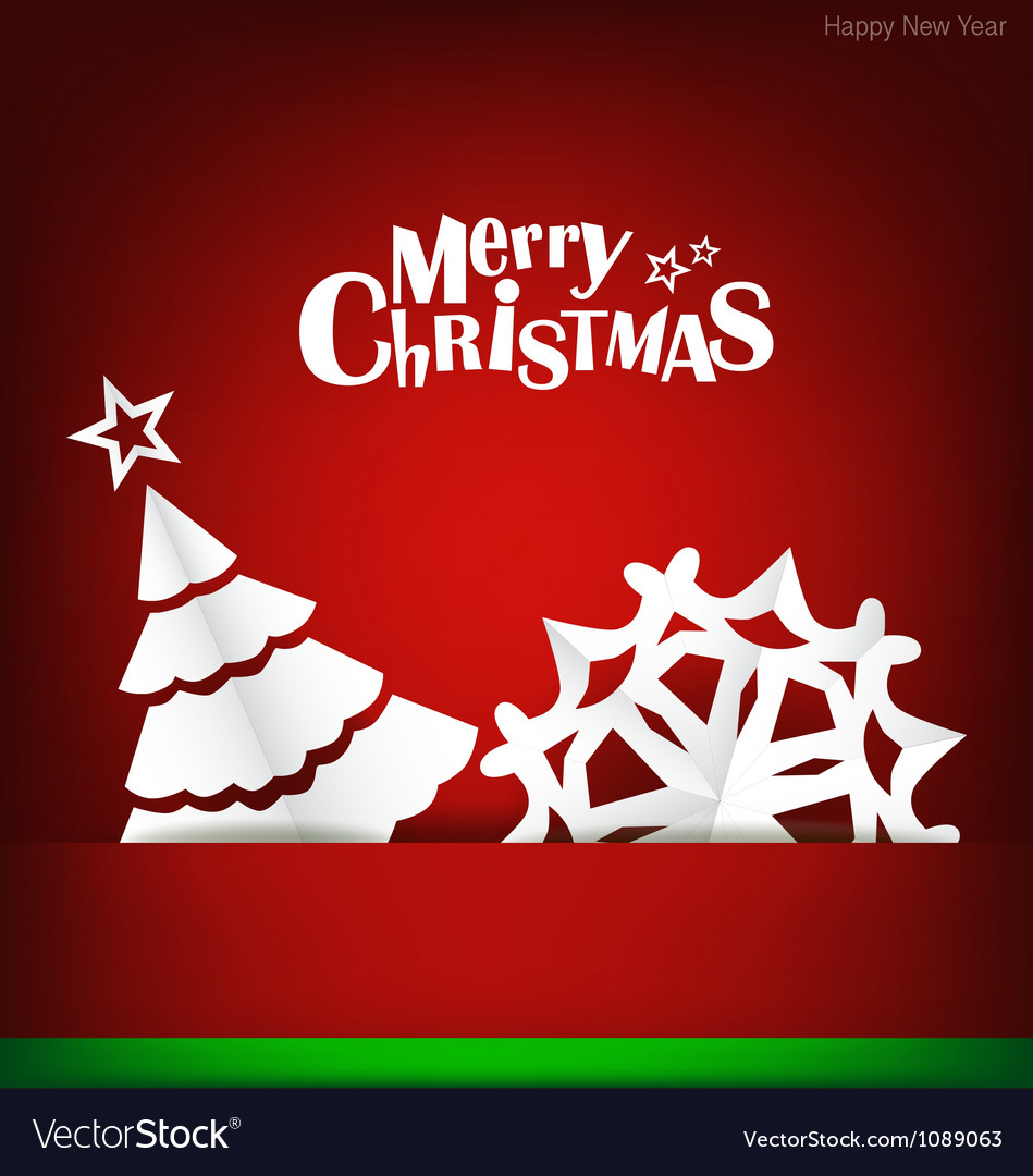 Merry christmas greeting card with xmas decoration merry christmas greeting card with xmas decoration vector image m4hsunfo