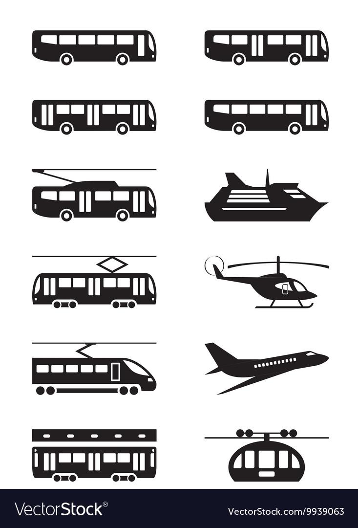 Passenger transportation vehicles vector image