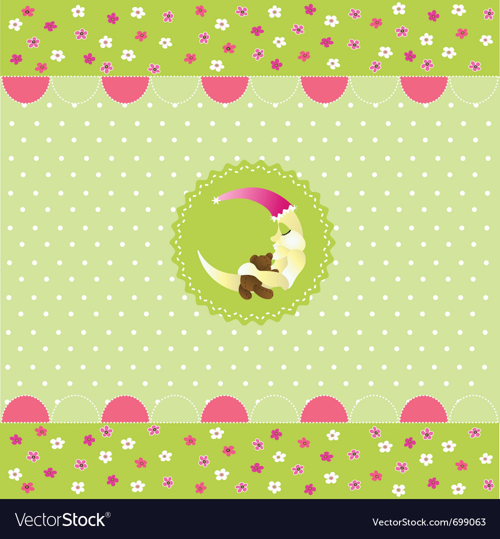 seamless baby pattern baby card royalty free vector image