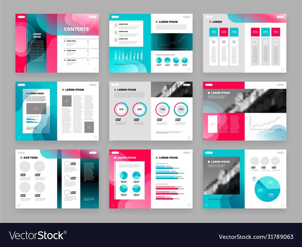 Template brochure set