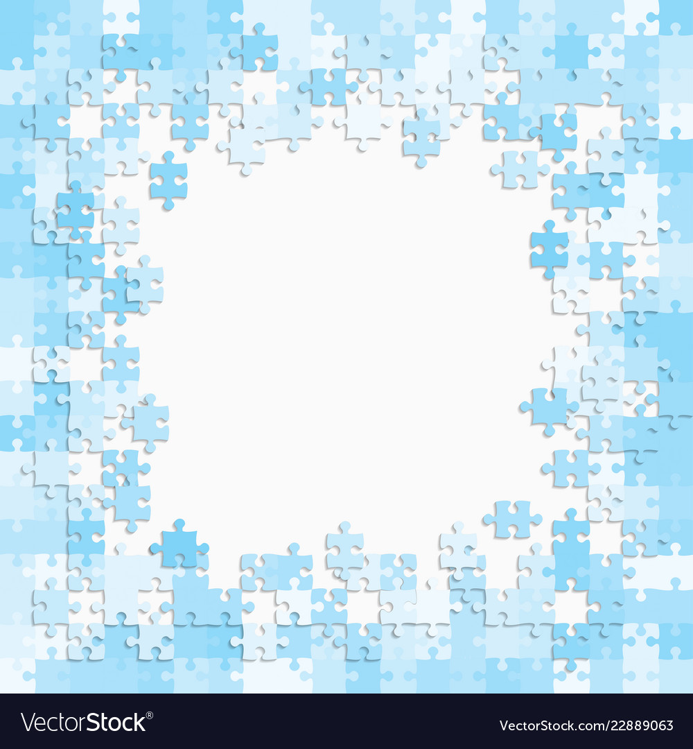 The Light Blue Background Puzzle Frame Jigsaw