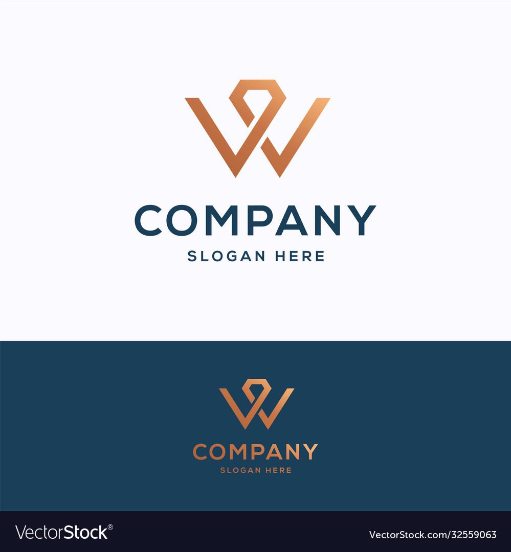 W company logo