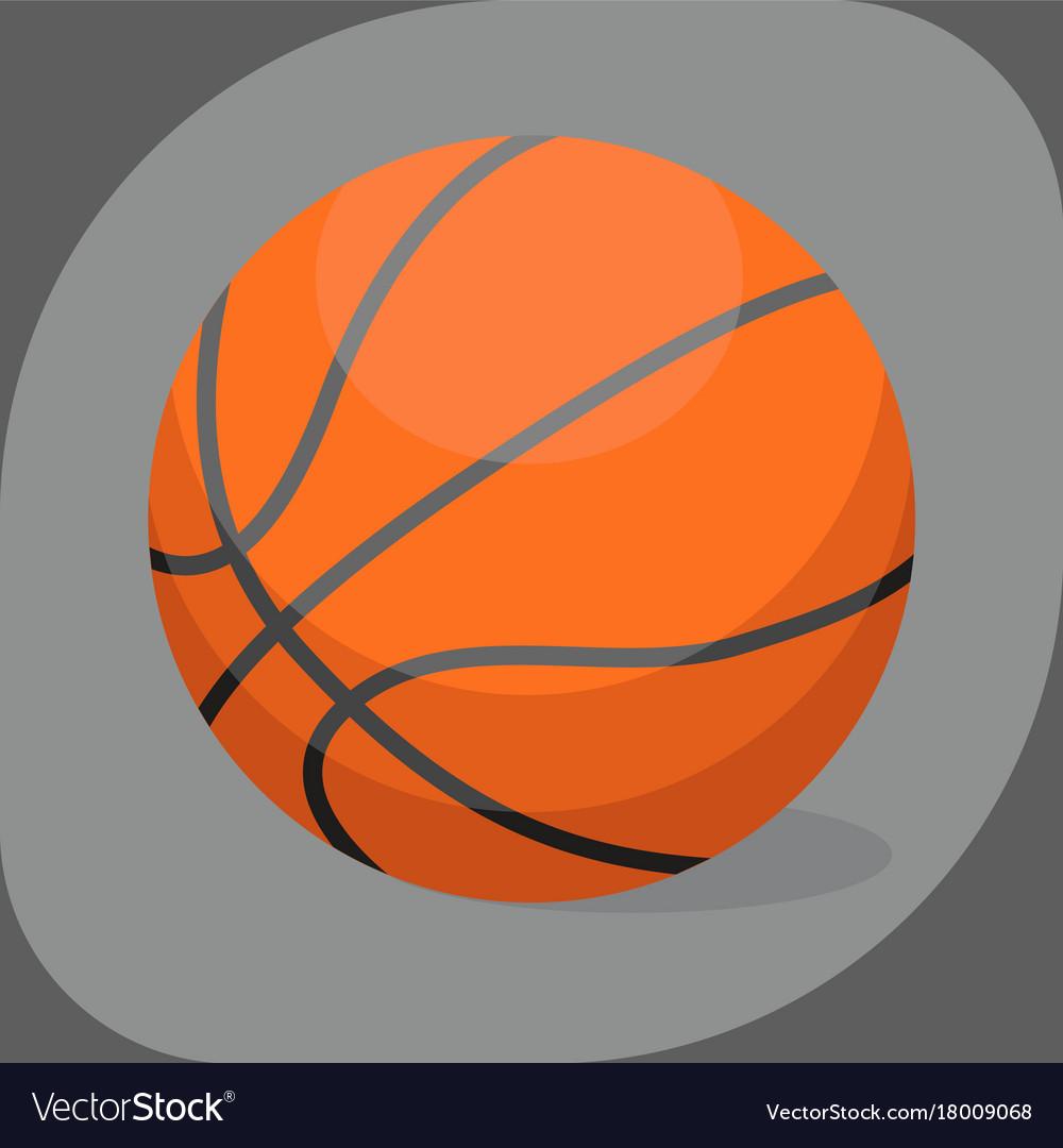 Basketball ball activity leisure sport symbol team vector image