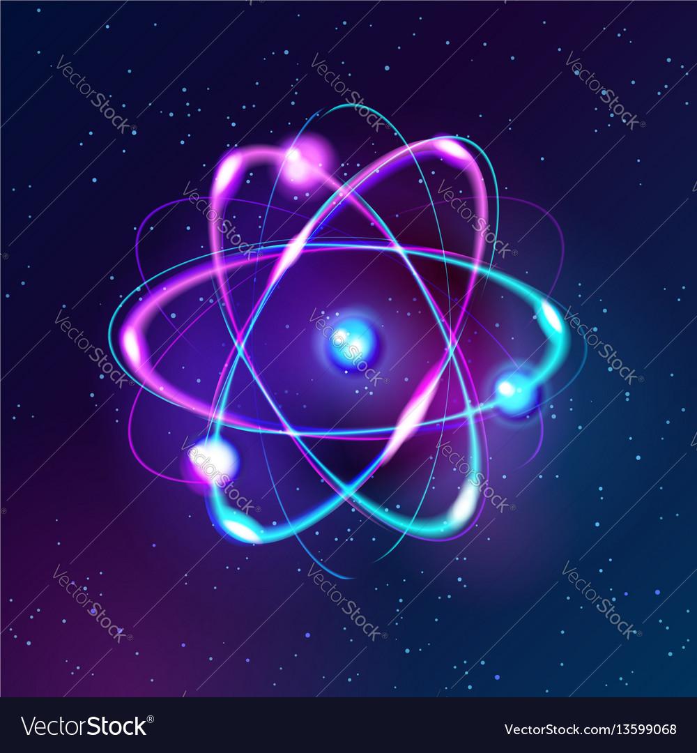 Blue shining atom abstract technology dark