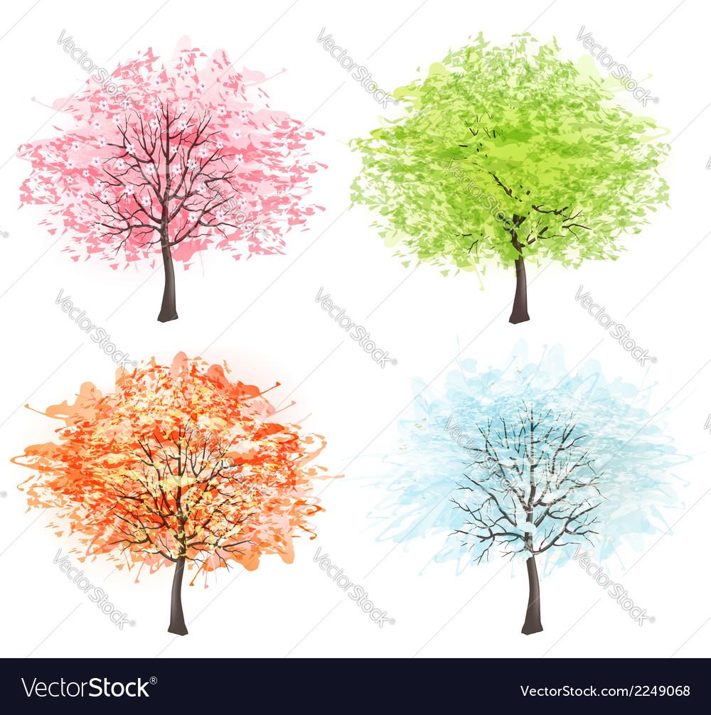 Four seasons - spring summer autumn winter Art