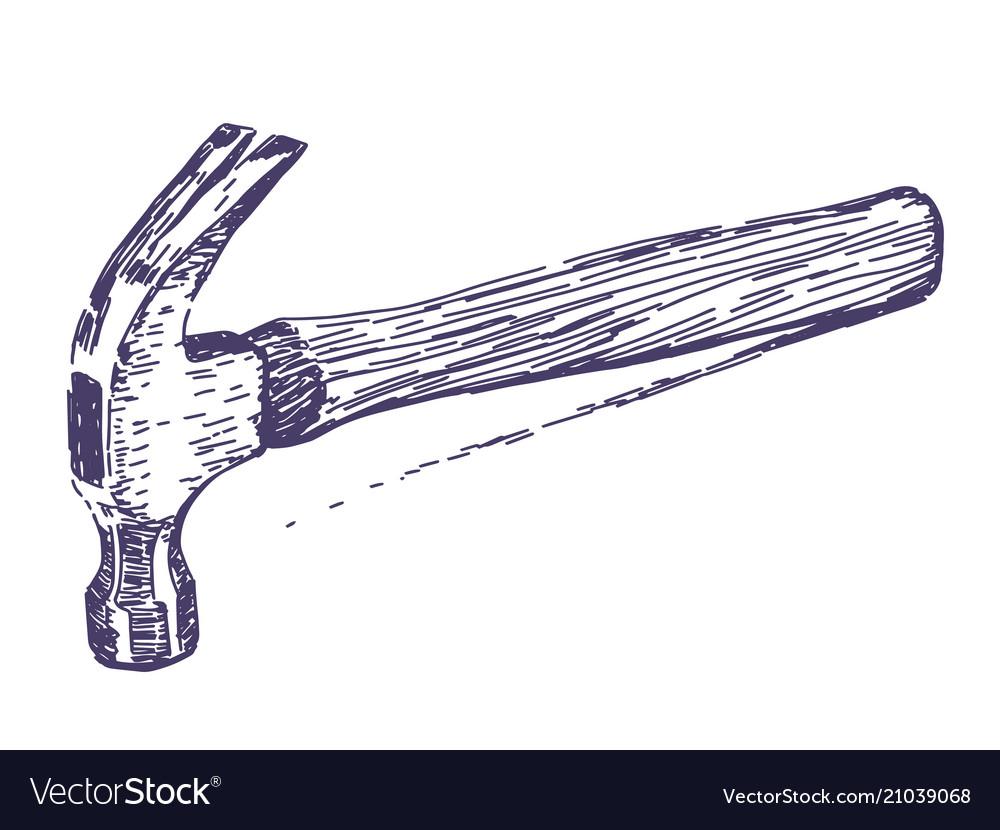 Hammer hand drawn