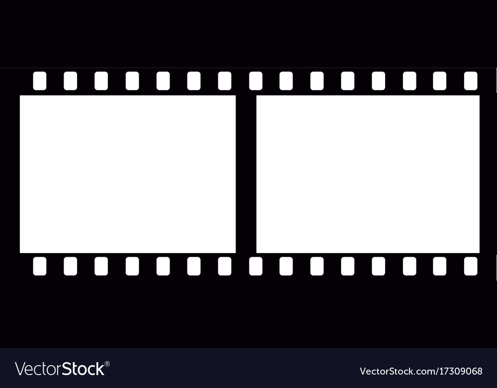 isolated filmstrip silhouette royalty free vector image rh vectorstock com film strip vector art film strip vector background