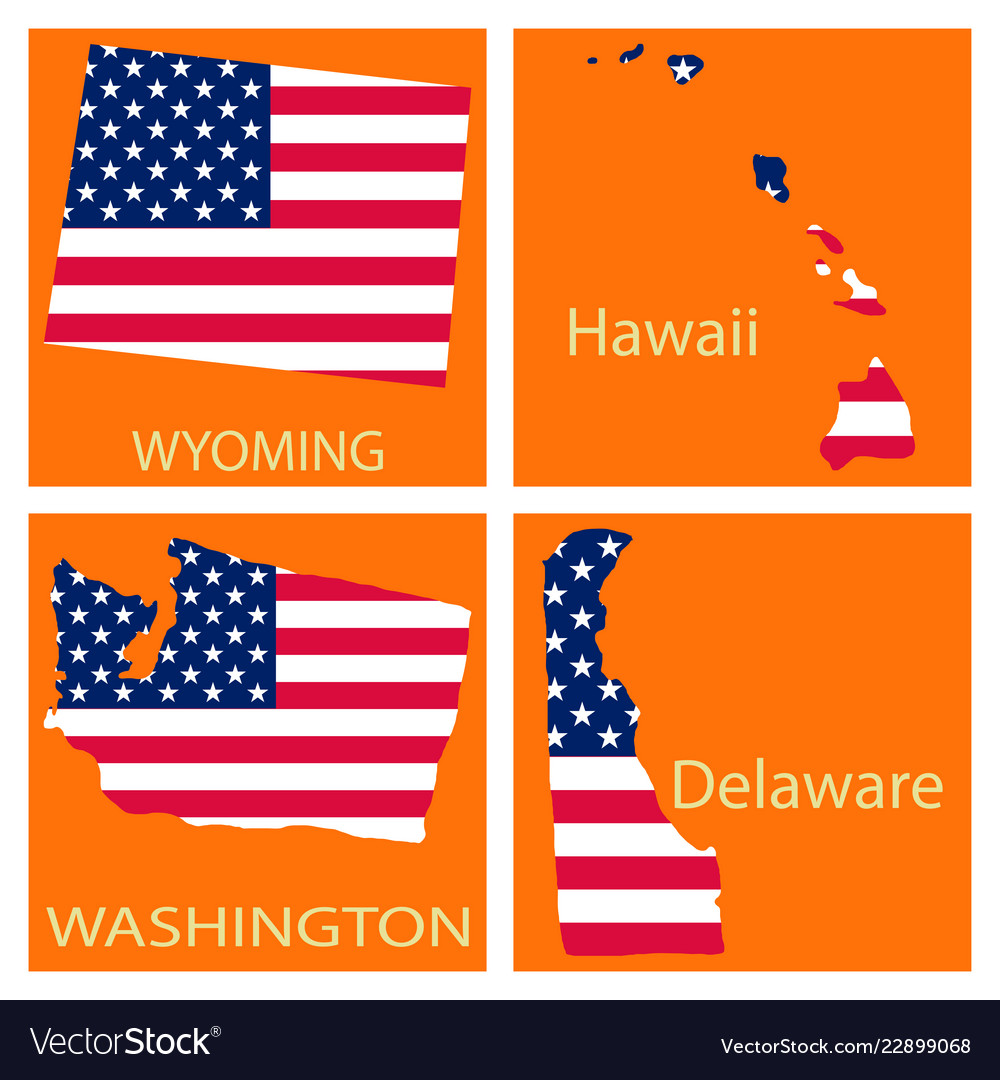 United State Of America Map.Poster Map Of United States Of America With State Vector Image