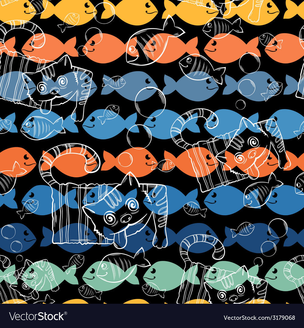 Seamless patterns A series of strange animalsCrazy vector image
