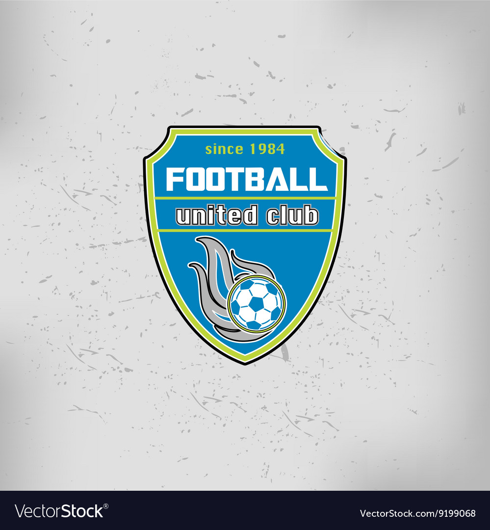 Soccer Football Badge Logo Emblem Design Templates vector image