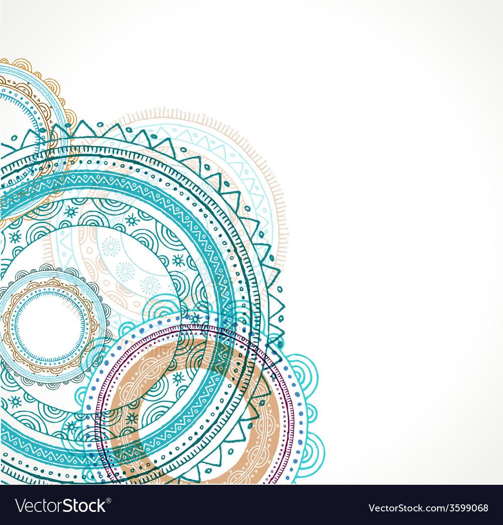 tribal bohemian mandala background with round vector image vectorstock