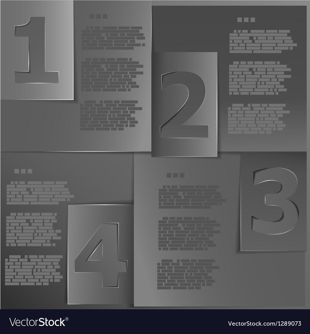 Black paper templates vector image