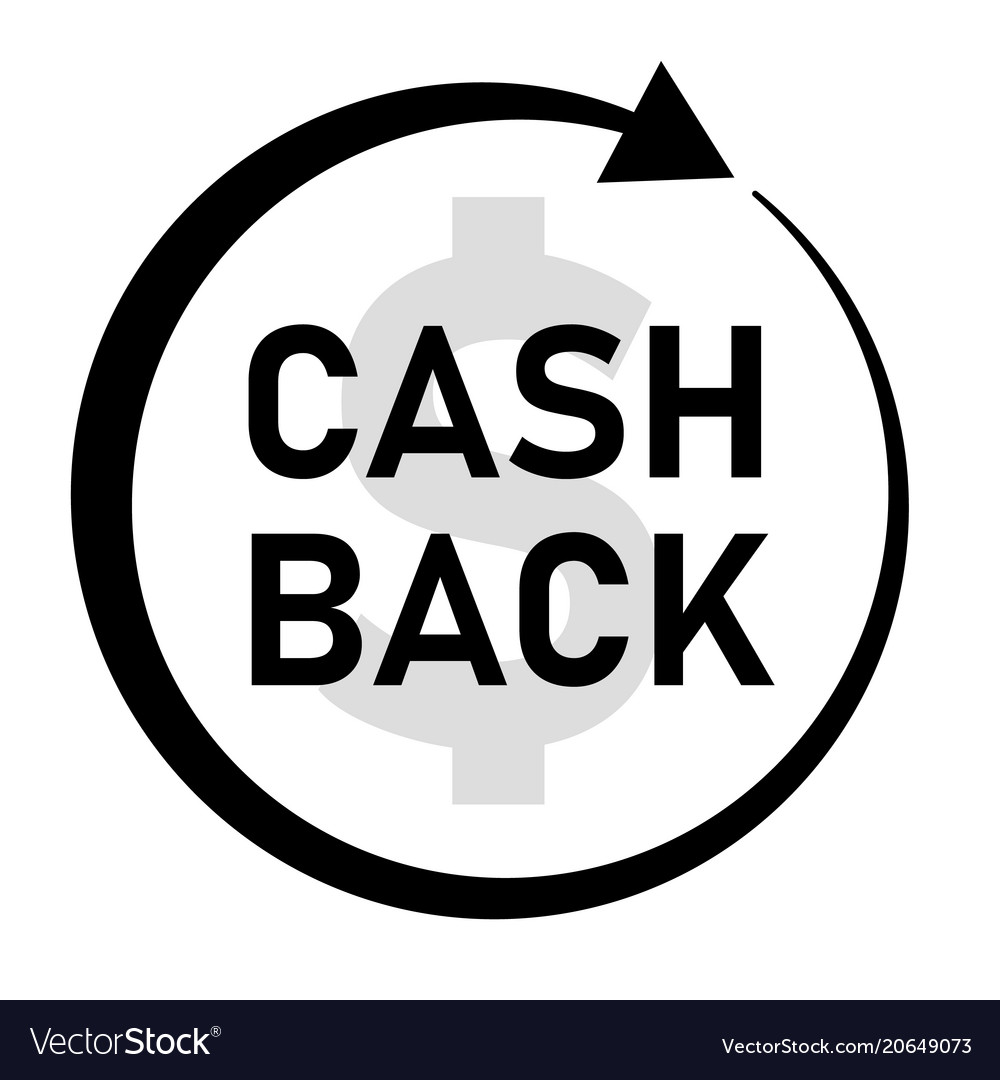 cash back icon on white background cash back vector image vectorstock