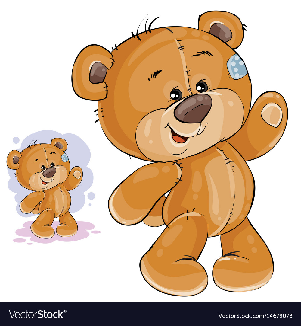 Clip art art teddy bear waving