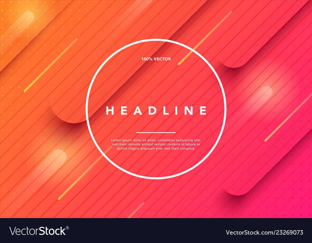 Colorful minimal future geometric background