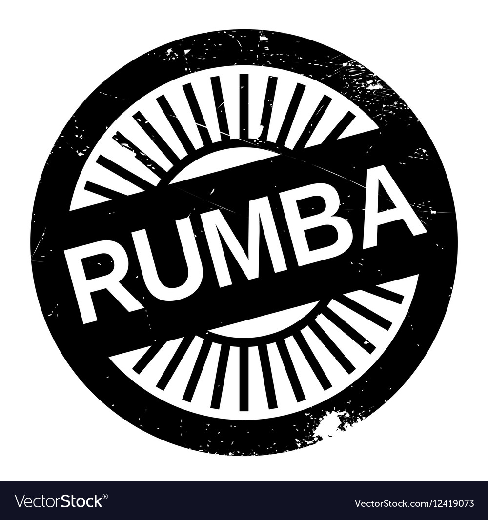 Famous dance style Rumba stamp vector image