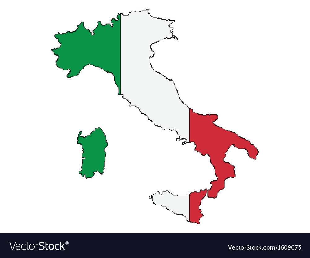 Map Of Italy Outline.Outline Of Italy Royalty Free Vector Image Vectorstock