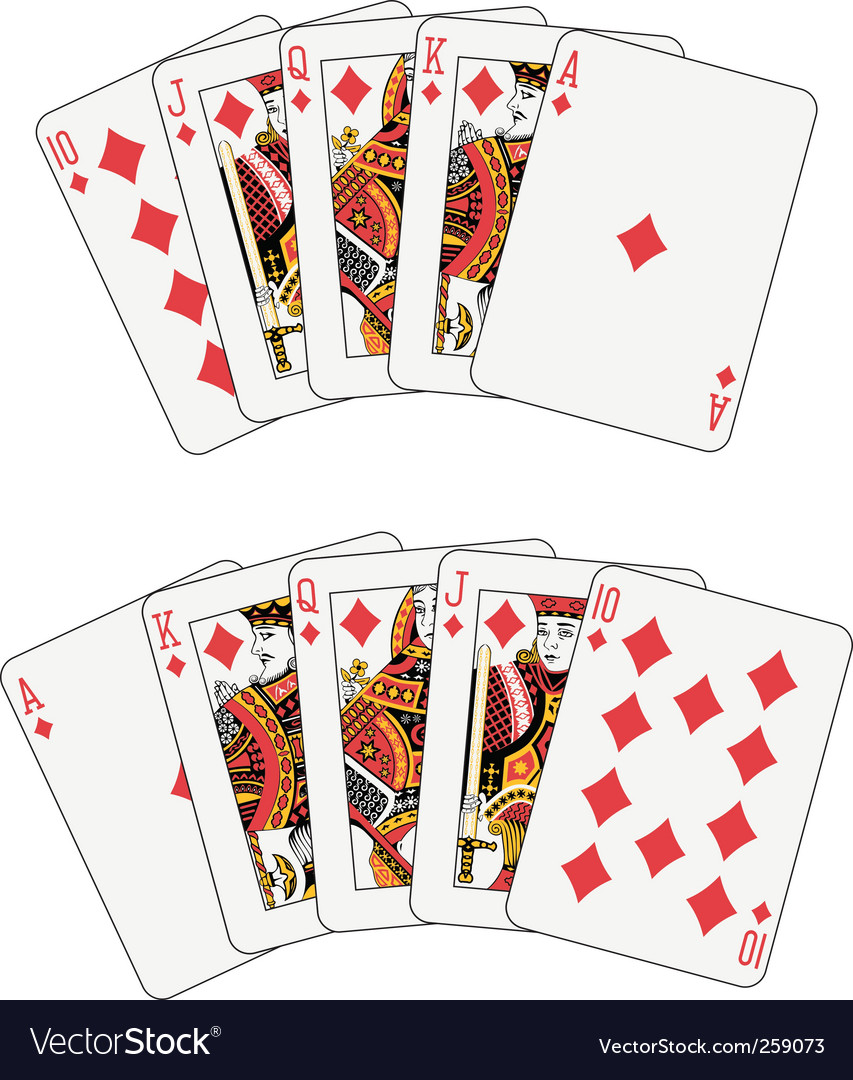 Royal flush diamond