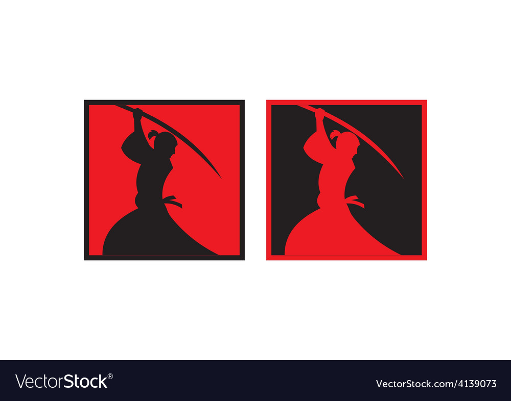 Samurai sword japan abstract logo