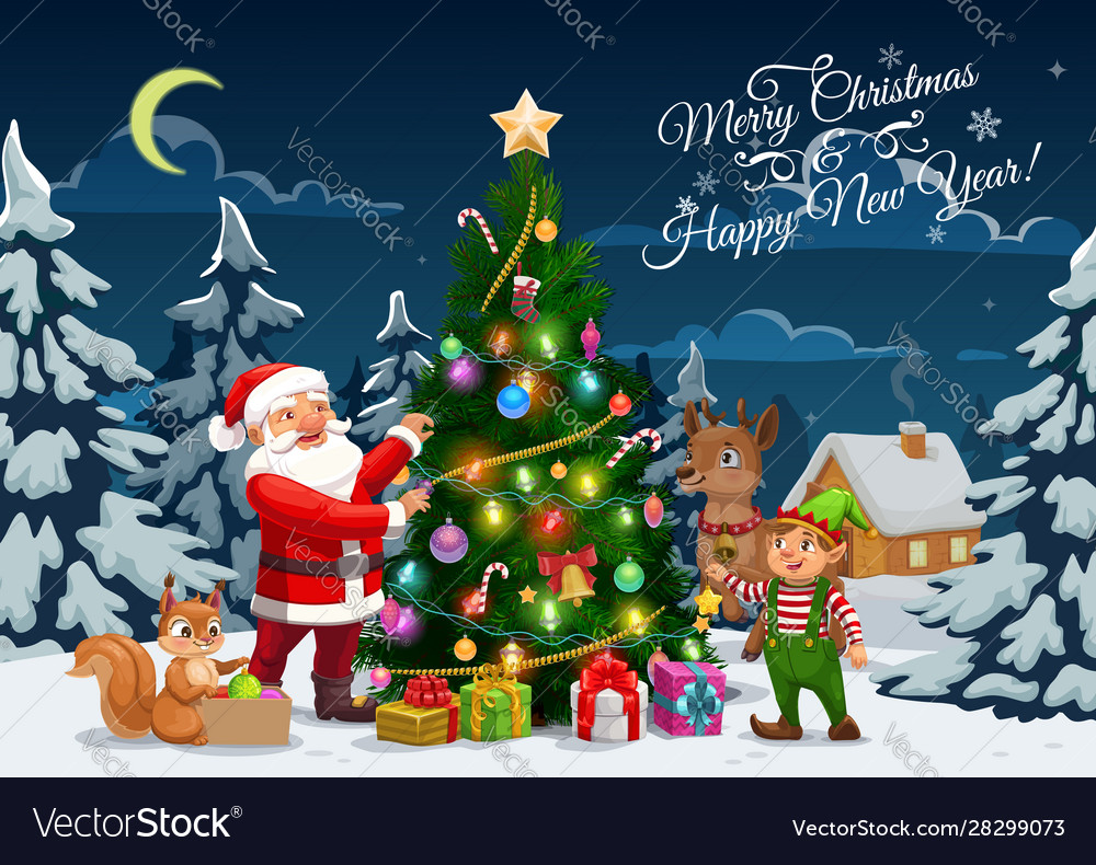 Christmas tree decoration Santa NEW Reindeer
