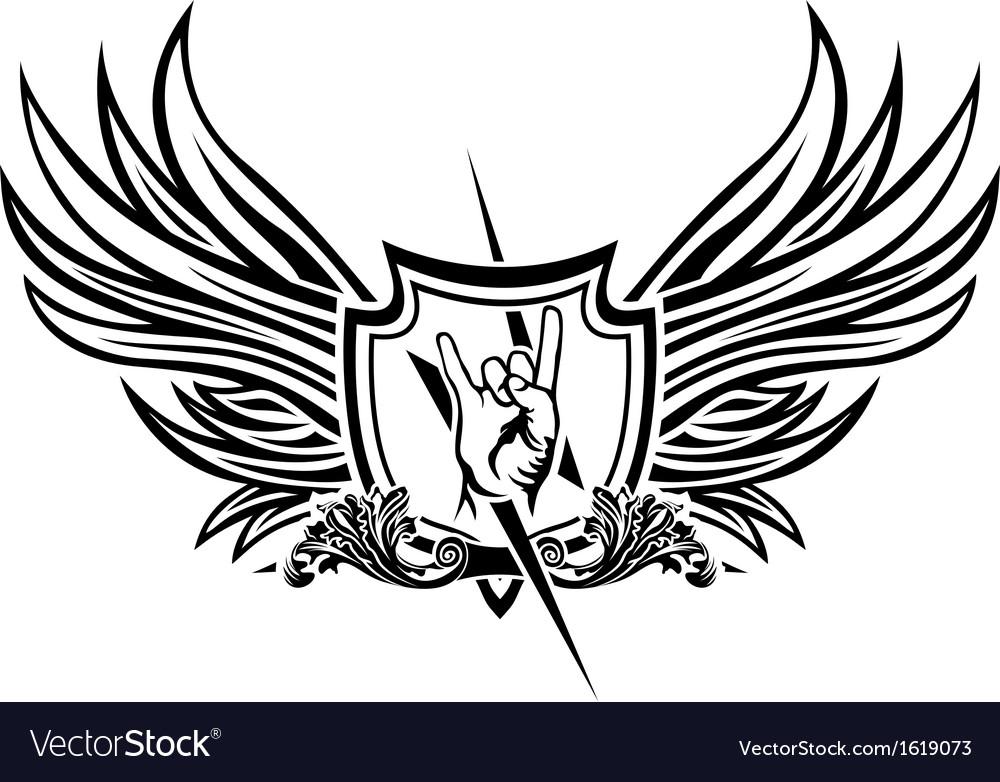 Symbol of rock n roll vector image