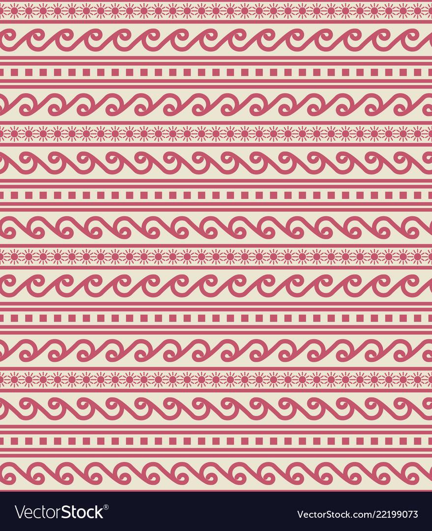 Tribal seamless border pattern