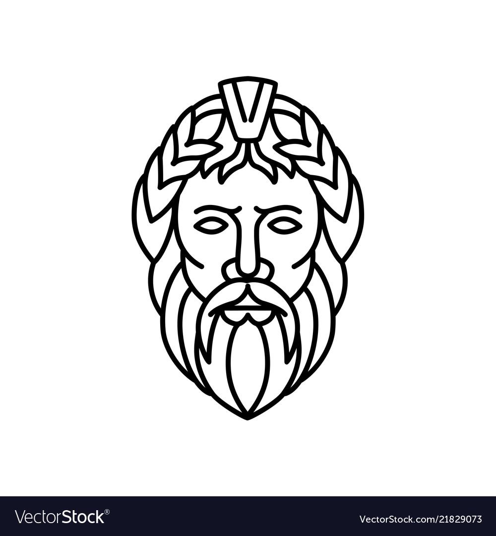 Zeus God Of Sky And Thunder Mono Line