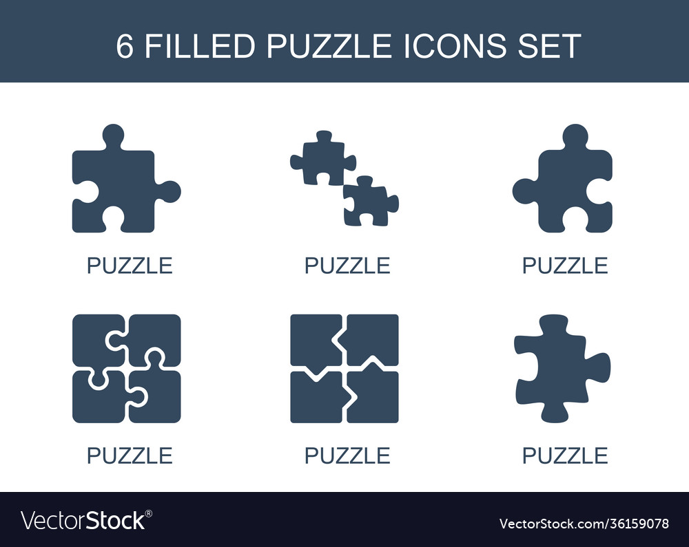 6 puzzle icons