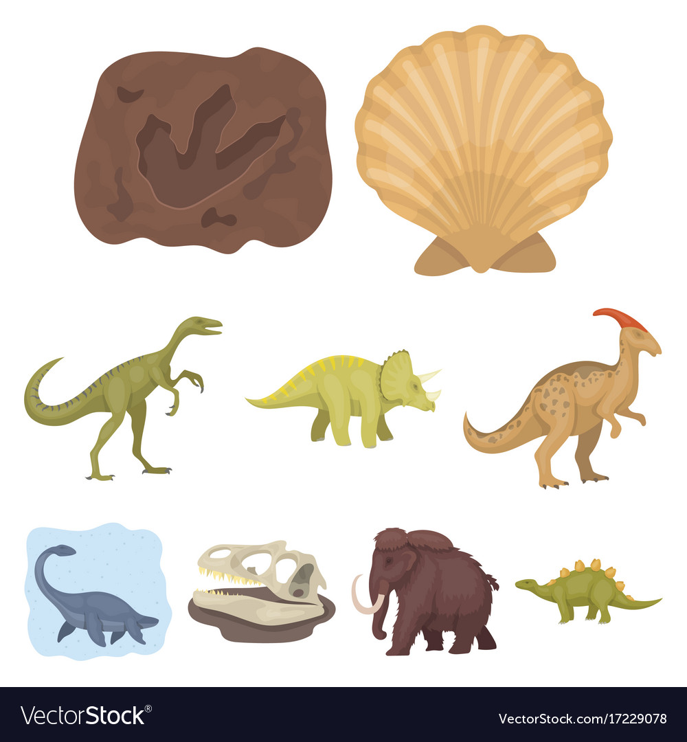 Image of: Scary Vectorstock Ancient Extinct Animals And Their Tracks And Vector Image