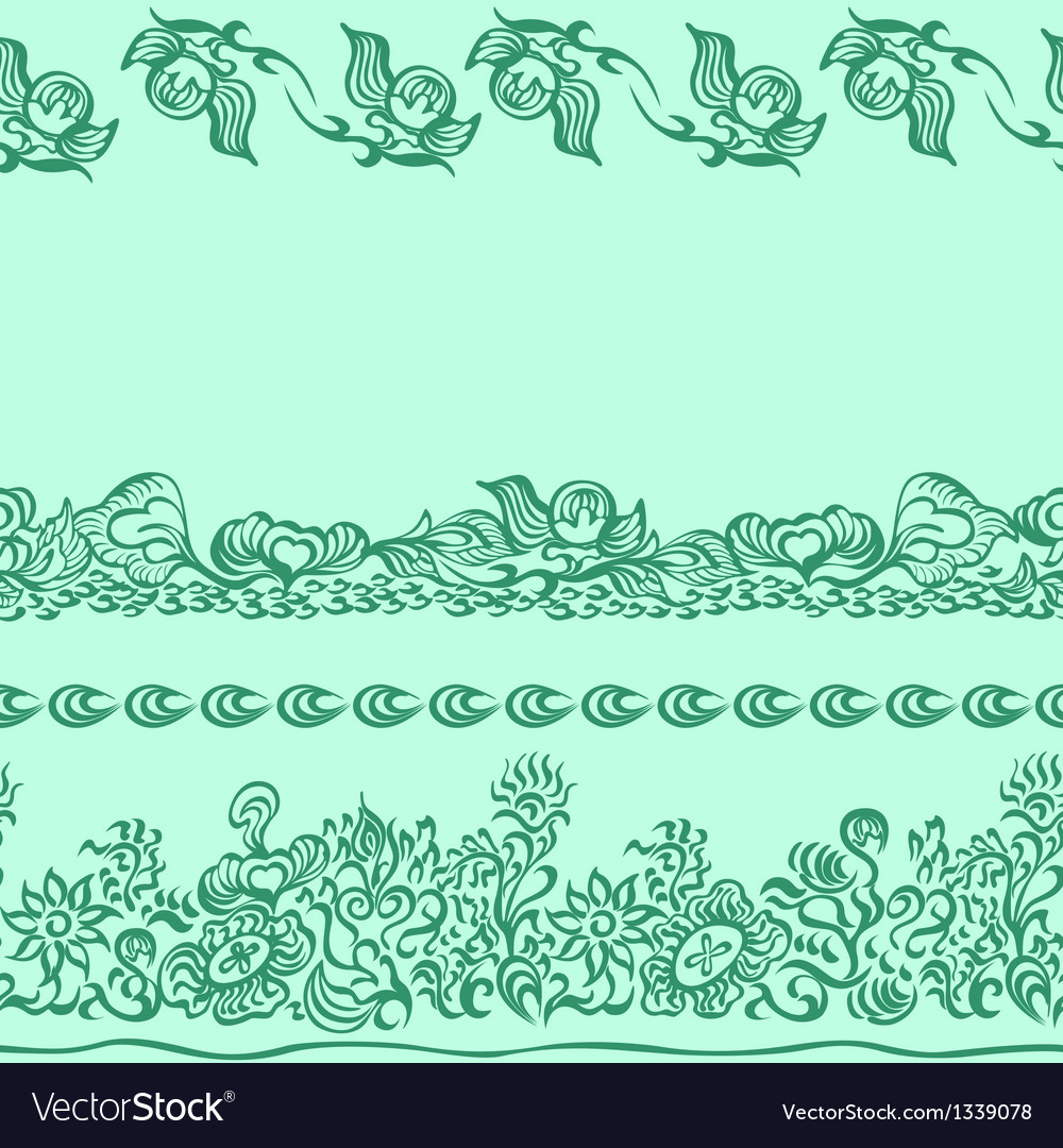 Design pattern with decorative ornament vector image
