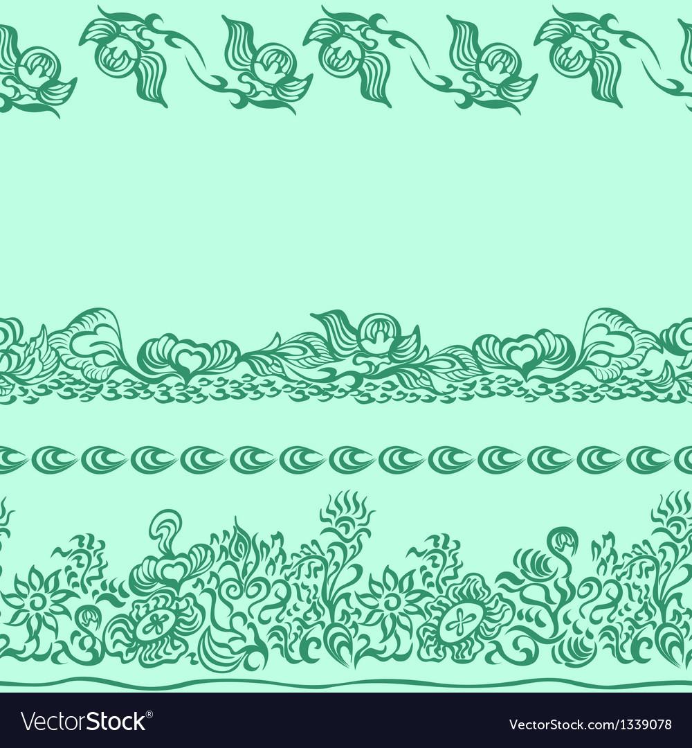 Design pattern with decorative ornament