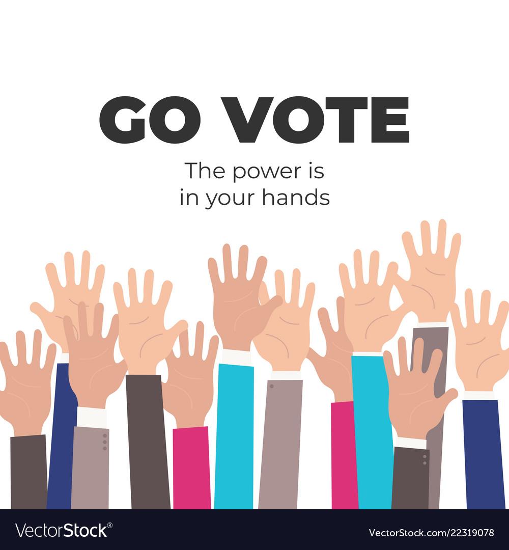 Go vote social motivational poster template