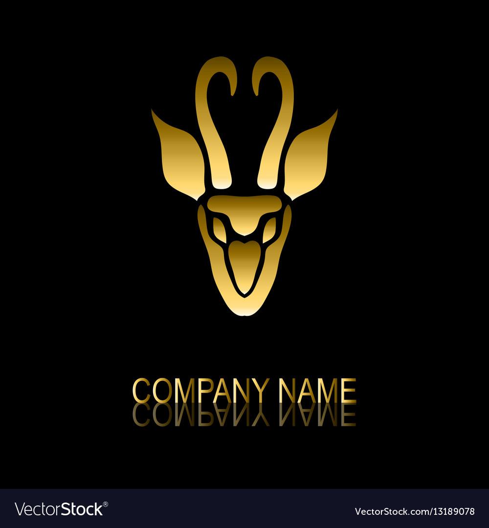 Golden gazelle symbol