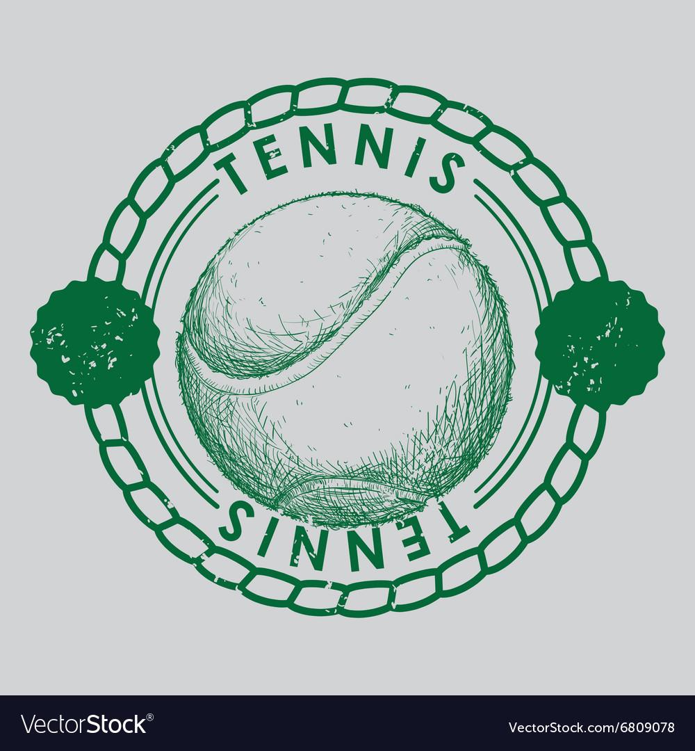 Hand draw tennis balle
