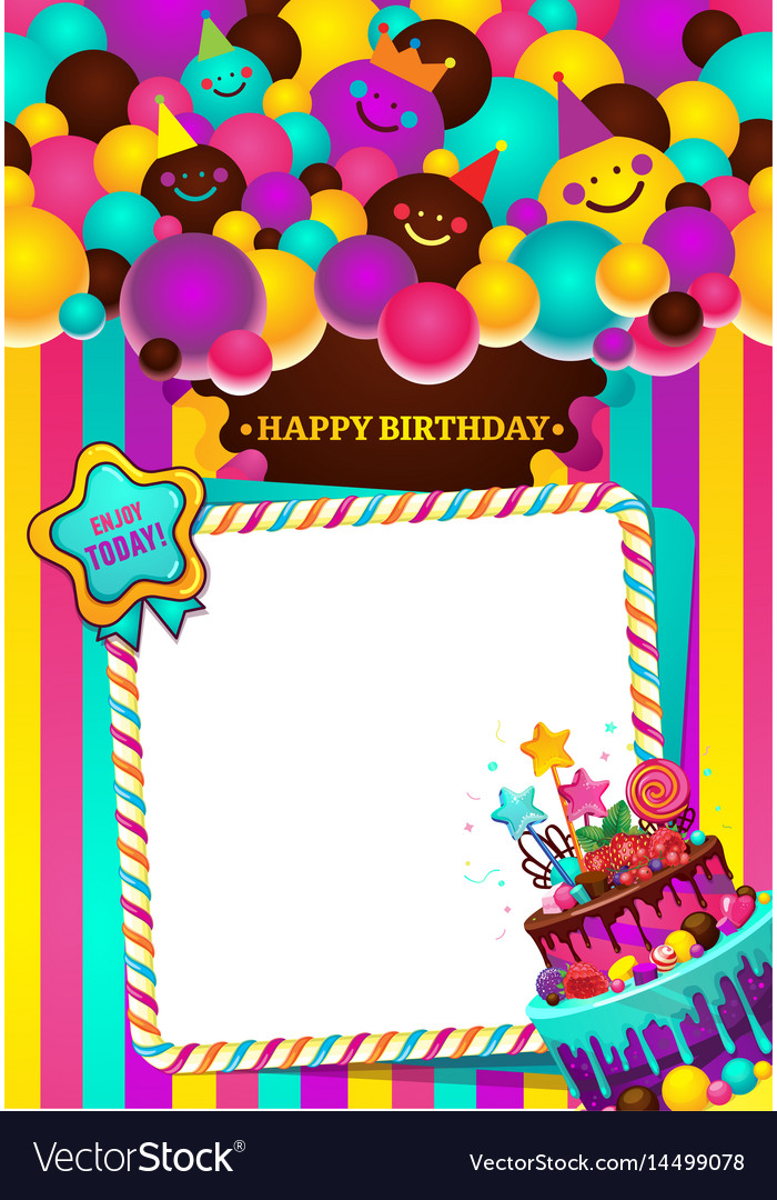 Happy Birthday Frame Royalty Free Vector Image