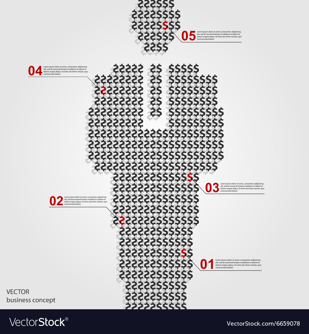 Infographics US Dollar sign design template Vector Image
