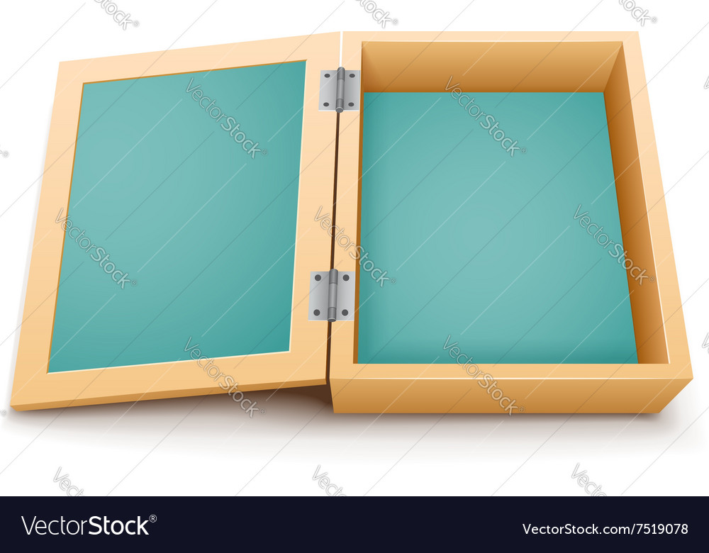 open wooden box isolated royalty free vector image