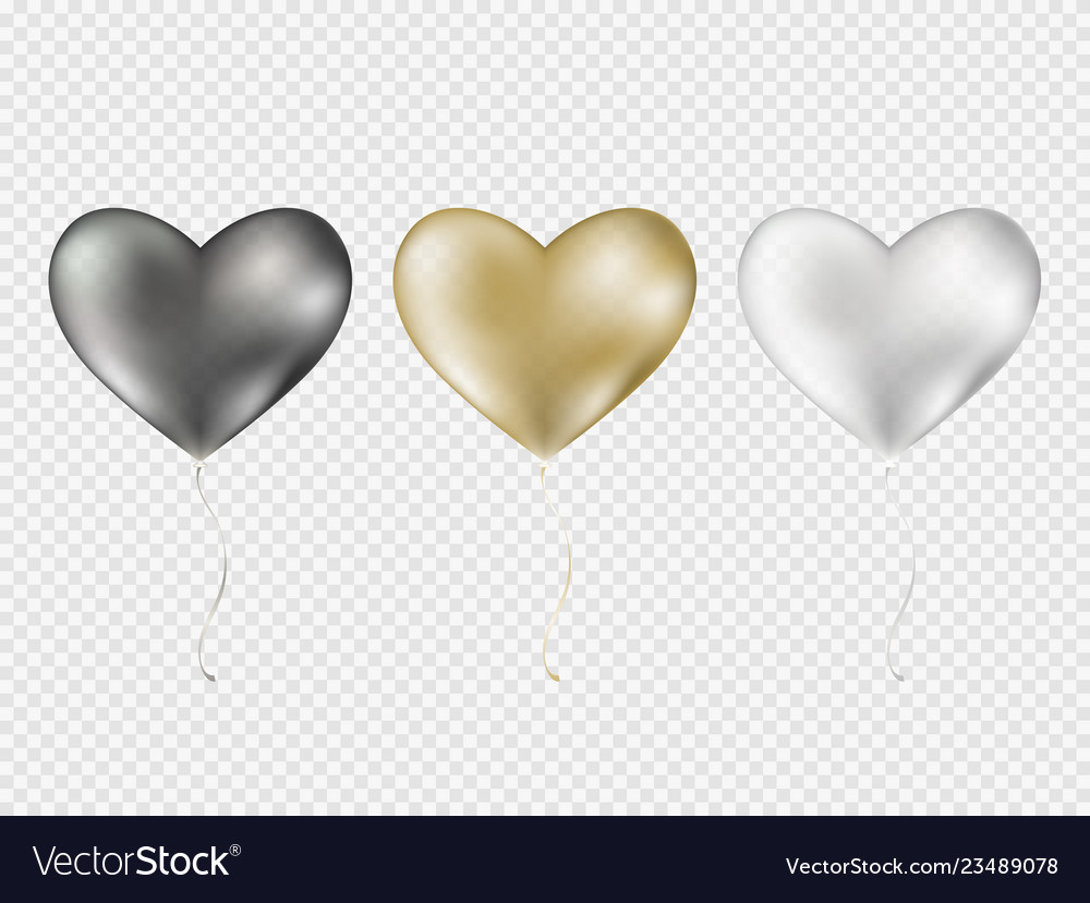 Realistic balloons on transparent background