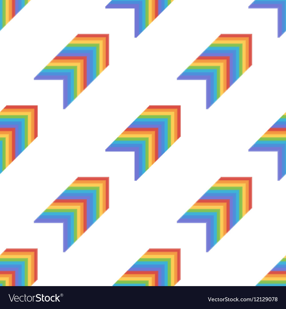 Seamless pattern background with rainbow arrows
