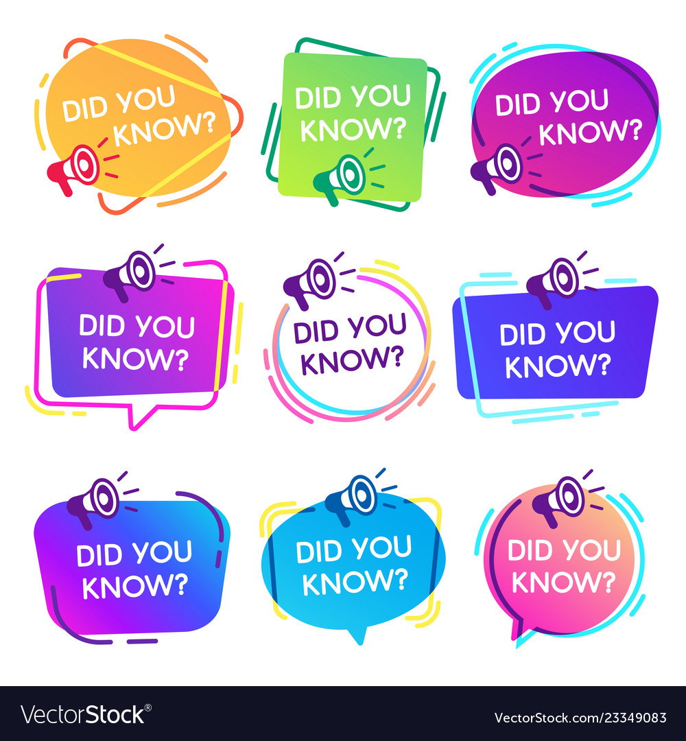 Did you know labels interesting facts speech